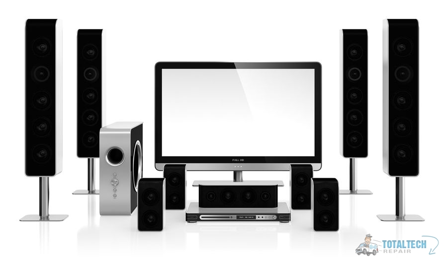 A 3D Illustration of a Home Theater System