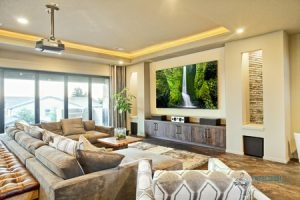 Luxury Living Room with Mounted TV