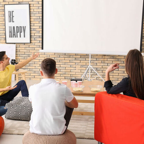 People Enjoy a Home Theater.