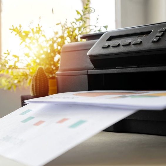 printer creating business documents