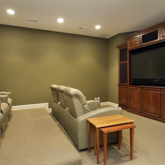 home theater set up