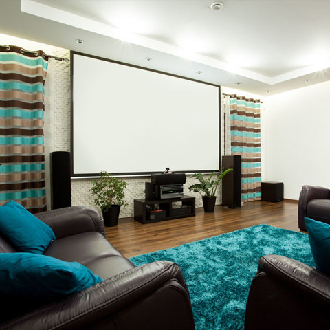 a home theater set up